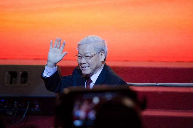 Tổng Bí thư Nguyễn Phú Trọng cùng nhiều cán bộ cấp cao đã đến tham dự buổi lễ kỷ niệm, động viên và cổ vũ tinh thần cho các đoàn viên, thanh niên