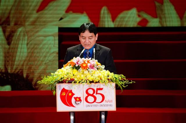 Đồng chí Nguyễn Đắc Vinh, Ủy viên BCH T.Ư Đảng, Bí thư thứ nhất T.Ư Đoàn phát biểu khai mạc