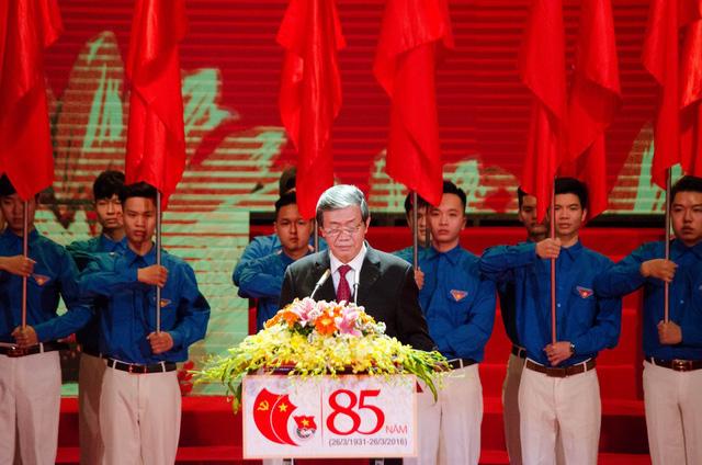 Đồng chí Đinh Thế Huynh - Ủy viên Bộ Chính trị - Thường trực Ban Bí thư phát biểu tại lễ kỷ niệm