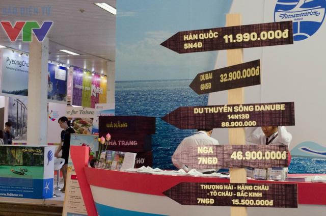 Hội chợ mang đến nhiều tour du lịch giảm giá đầy hấp dẫn