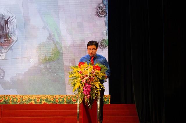 Bí thư Thành đoàn Hà Nội Nguyễn Văn Thắng ôn lại những năm tháng tôi luyện và phát triển của Đoàn TNCS Hồ Chí Minh.