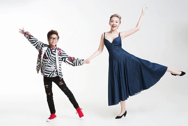 Thiên Tùng vốn có thế mạnh về nhảy múa nên giọng ca Ngày mai chủ động gợi ý cùng tạo dáng trong tư thế khiêu vũ.