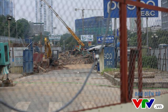 Tính đến thời điểm hiện tại, đây là điểm cuối cùng của tuyến mà nhà thầu đang tiến hành thi công. Đoạn đi ngầm qua Kim Mã, Cát Linh - Văn Miếu -và Ga Hà Nội sẽ được triển khai trong thời gian tới.