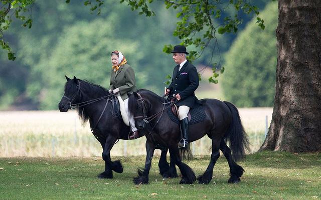 Cưỡi ngựa là một trong những môn thể thao yêu thích của Nữ hoàng Anh. (Ảnh: REX)