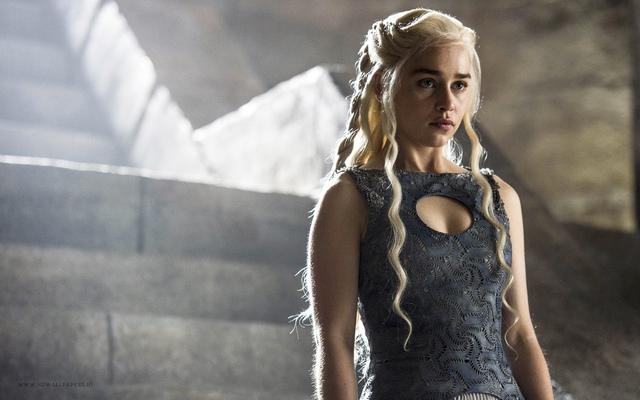 Nữ diễn viên Emilia Clarke trong series phim Game of Thrones