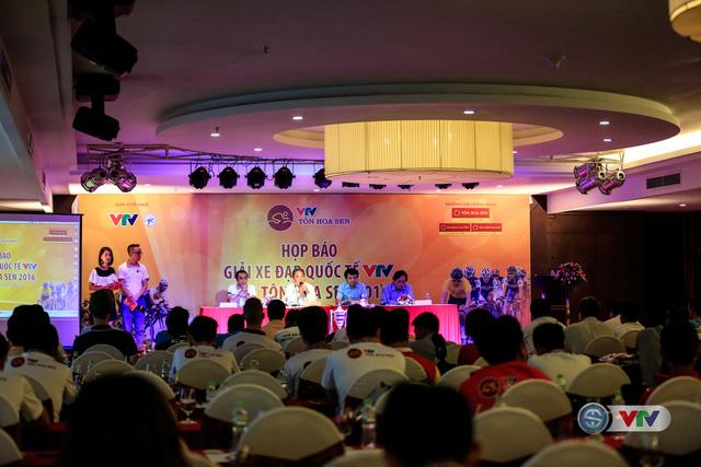 Toàn cảnh buổi họp báo giải xe đạp Quốc tế VTV Cúp Tôn Hoa Sen 2016 diễn ra sáng 23/8 tại Đà Nẵng
