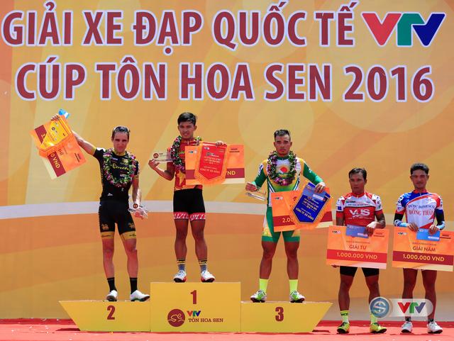 5 tay đua về nhất chặng 1 Giải xe đạp Quốc tế VTV Cúp Tôn Hoa Sen 2016