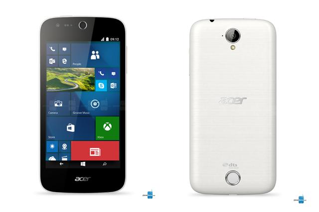 Phiên bản Acer Liquid M330 màu trắng (Ảnh: PhoneArena)