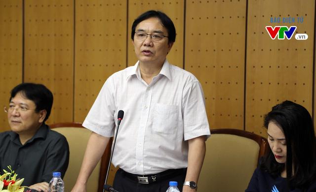 Phó Tổng Giám đốc Đài THVN Phạm Việt Tiến chia sẻ thông tin về Liên hoan thiếu nhi ASEAN tại buổi họp báo