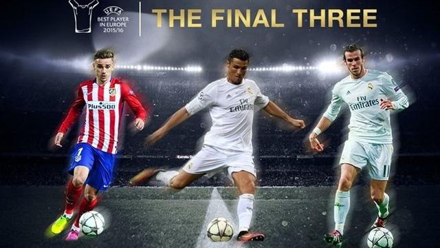 Ba ứng viên cuối cùng cho danh hiệu Cầu thủ xuất sắc nhất châu Âu mùa 2015/16