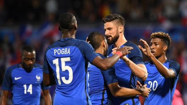 ĐT Pháp đang rất tự tin hướng đến chiến thắng trong ngày ra quân Euro 2016 trước ĐT Romania. Ảnh: Getty