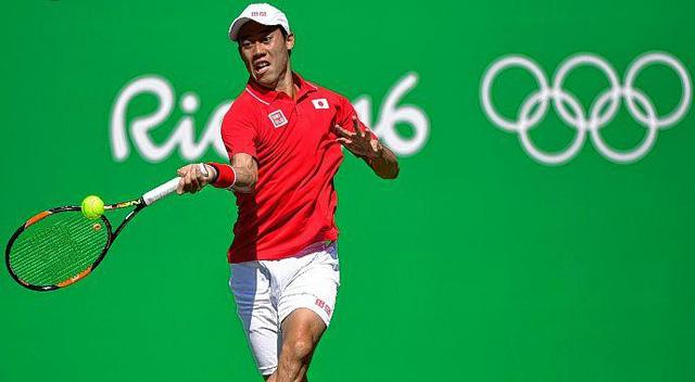 Kei Nishikori đã giành quyền vào bán kết Olympic Rio 2016 nội dung đơn nam. Ảnh: Olympic
