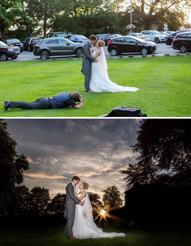 Bên cạnh những giây phút trườn bò, oằn mình lưu giữ khoảnh khắc, nhiếp ảnh gia còn thể hiện kỹ năng photoshop.