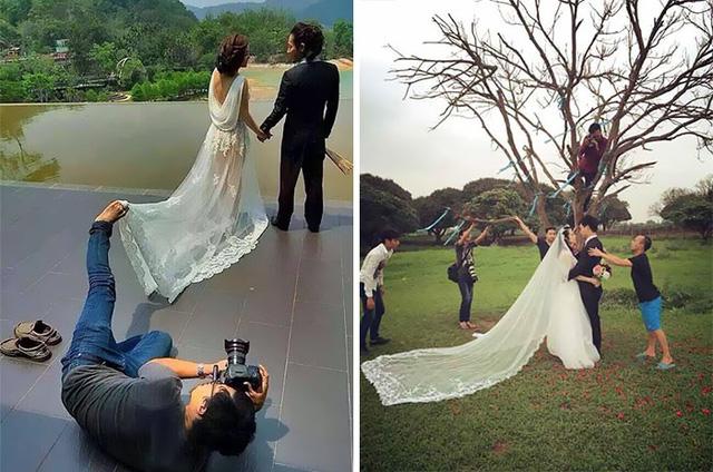 Dù một mình hay là cả một ê-kíp thì vẫn luôn có bí kíp độc chụp ảnh cưới.