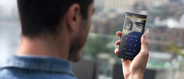 Galaxy Note 7 gây ấn tượng bởi công nghệ bảo mật bằng mống mắt