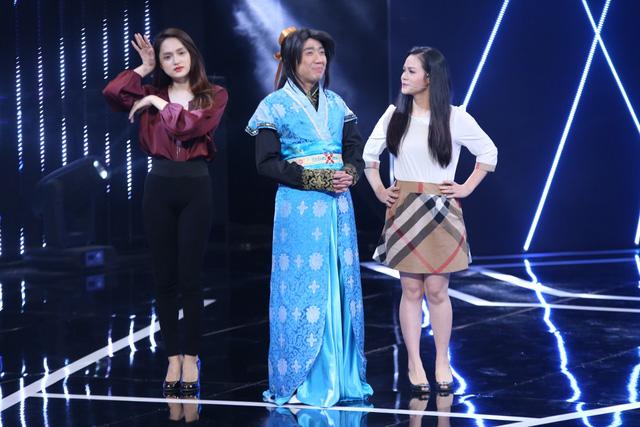 Hương Giang Idol và Nhật Kim Anh làm tì nữ của quân sư Trấn Thành