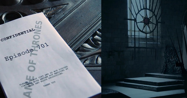 Hình ảnh trong video cho thấy kịch bản của phần 7 đã sẵn sàng