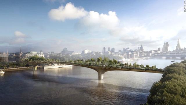 1. Garden Bridge, London, Vương quốc Anh, dự kiến hoàn thành cuối năm 2018.