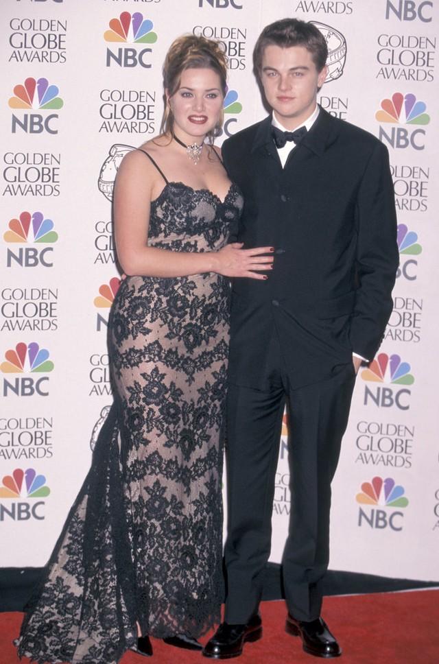 Leo xuất hiện lần đầu cùng Kate Winslet ở thảm đỏ Quả cầu vàng 1998.