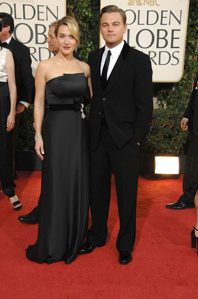 Giải Quả cầu vàng 2009 đánh dấu sự tái hợp của Leonardo và Kate Winslet trên thảm đỏ.
