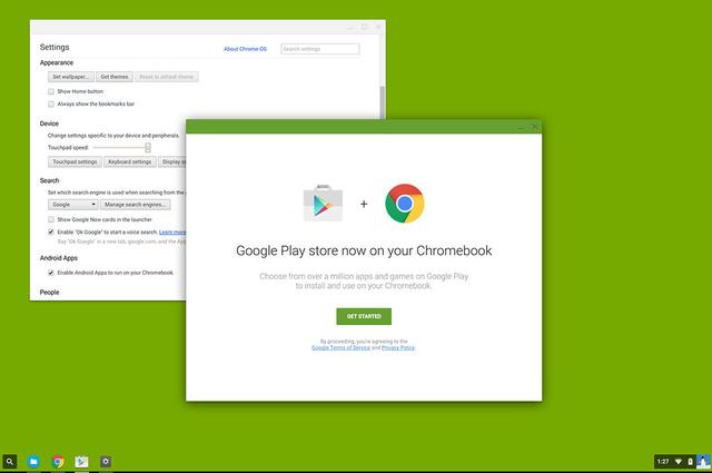 Google sẽ mang các ứng dụng Android trên cửa hàng Google Play đến với nền tảng ChromeOS