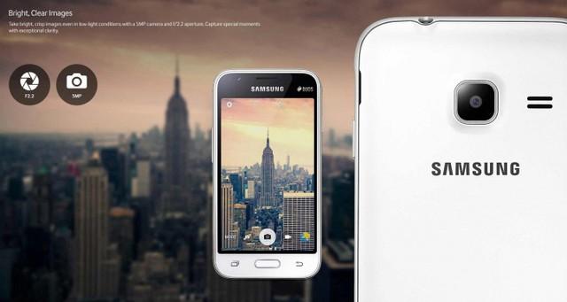 Galaxy J1 Mini được trang bị camera sau có độ phân giải 5MP, tích hợp cảm biến ảnh CMOS