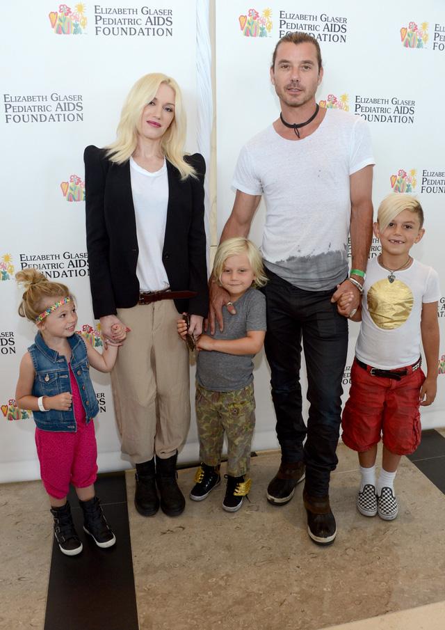 Gwen và chồng cũ, rocker Gavin. Cả hai có chung 3 con sau 13 năm chung sống.