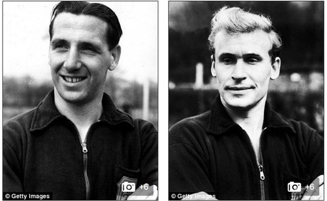 Tommy Lawton (trái) ghi 4 bàn còn Wilf Mannion ghi 1 bàn trong thắng lợi khó tin 8-2.