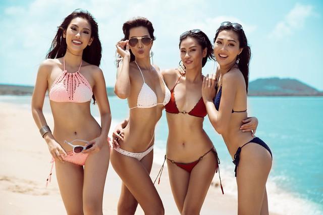 Mặc dù đã kết thúc vai trò giám khảo của Hoa khôi áo dài Việt Nam 2016 nhưng Hà Anh vẫn hết lòng hỗ trợ các học trò. Mới đây, cô đã cùng top 3 gồm Hoa khôi Diệu Ngọc, Á hậu 1 Yến Nhi và Á hậu 2 Phương Linh thực hiện bộ ảnh bikini trên bãi biển.