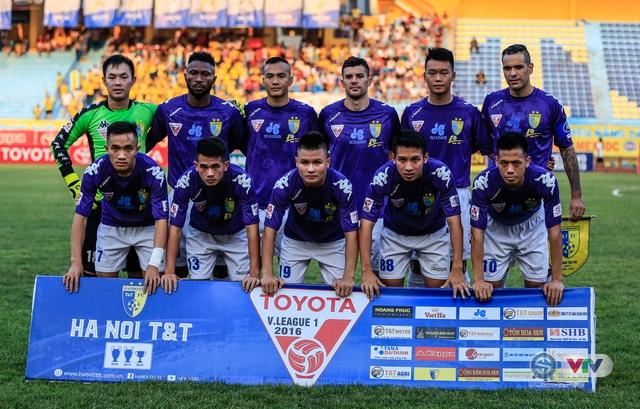 Đội hình ra sân của chủ nhà Hà Nội T&T.