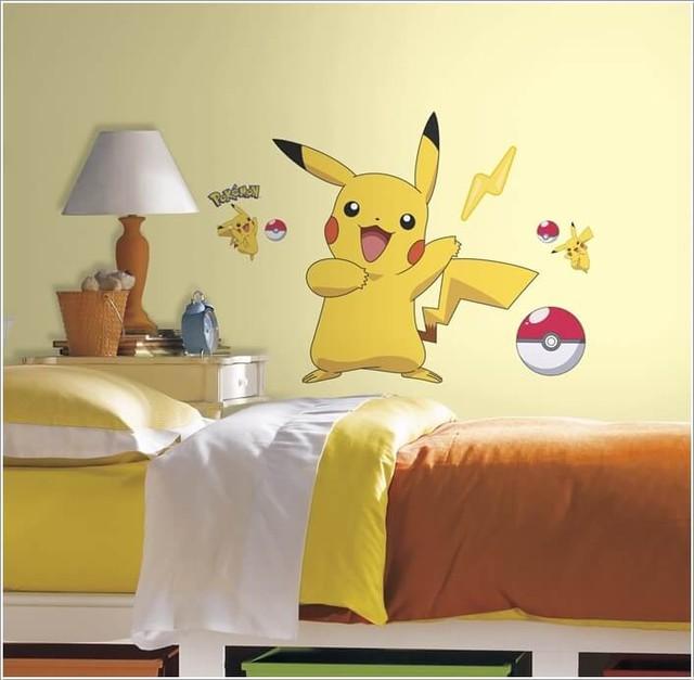 Góc phòng ngủ dành cho tín đồ của Pikachu