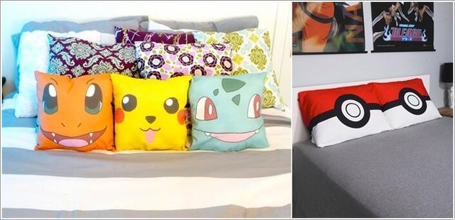 Những chiếc gối Pokémon cũng có thể góp phần tạo điểm nhấn cho không gian riêng của bạn.