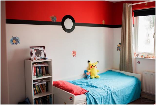 Hoặc biến tường phòng thành hình ảnh mang dấu ấn Pokémon?