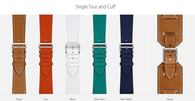 Các màu sắc của dây đeo Apple Watch Hermès