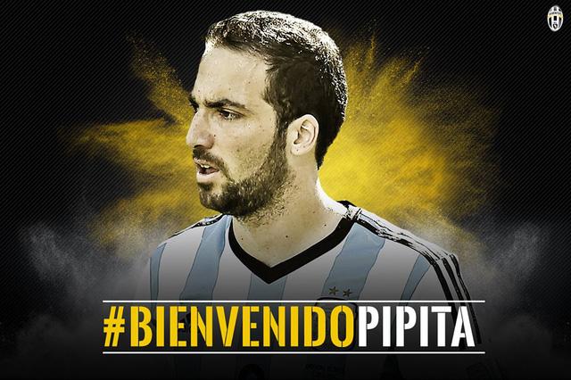 Higuain gia nhập Juve với mức phí kỉ lục