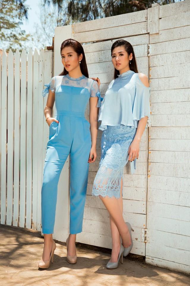 Hai người đẹp bước ra từ cuộc thi Hoa hậu Việt Nam kết hợp khá ăn ý khi thực hiện những hình ảnh mới.