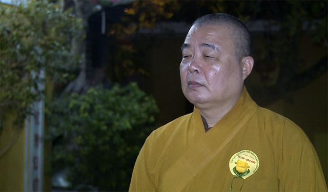 Hòa thượng Thích Thanh Nhiễu, Phó chủ tịch thường trực Hội đồng Trị sự Giáo hội Phật giáo Việt Nam (Ảnh: VTV News)