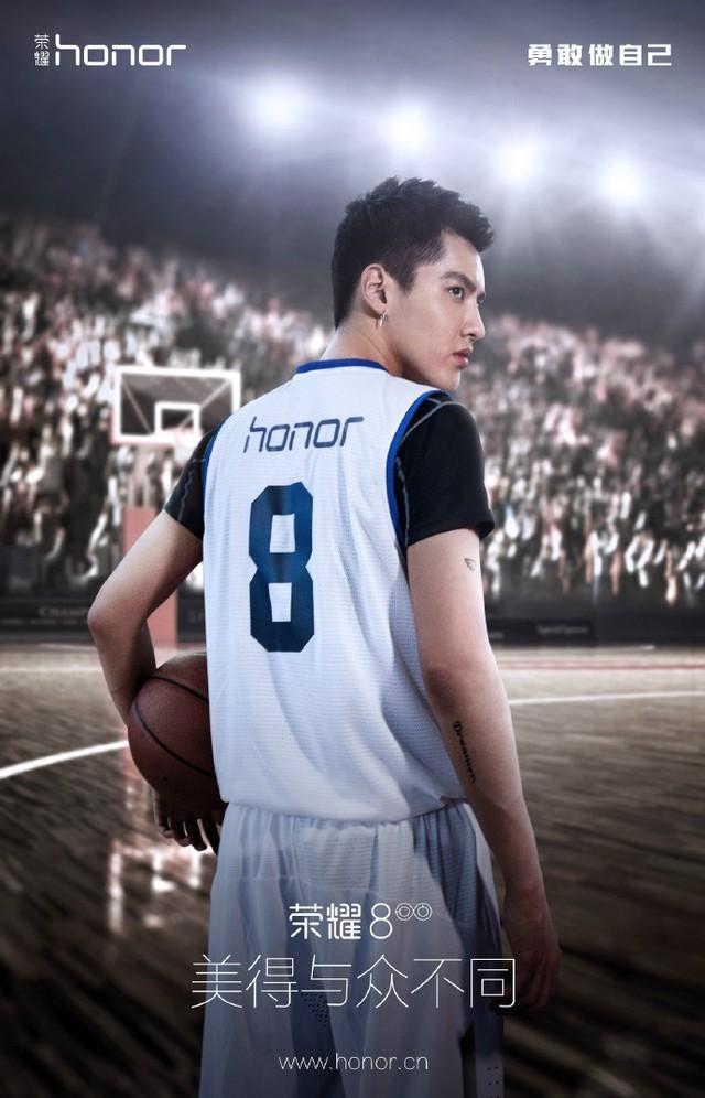 Hình ảnh teaser về Honor 8 với người mẫu quảng bá sản phẩm là ngôi sao Ngô Diệc Phàm