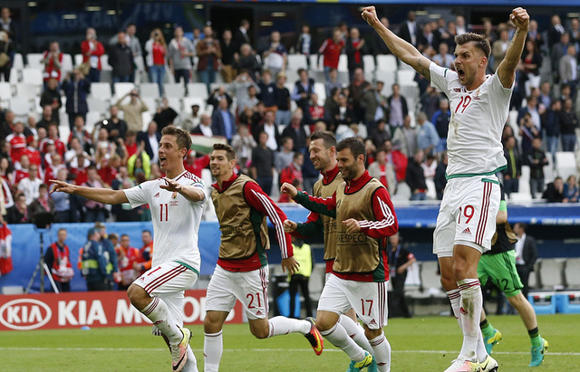 Với 4 điểm sau 2 trận, Hungary đang dẫn đầu bảng F và chắc chắn giành vé đi tiếp. Ảnh: Getty