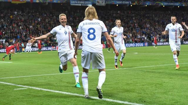 Iceland sẵn sàng làm nên thêm những bất ngờ sau trận hoà 1-1 trước Bồ Đào Nha. Ảnh: UEFA