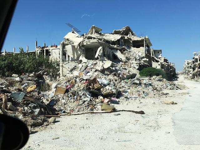 Khung cảnh hoang tàn của Syria