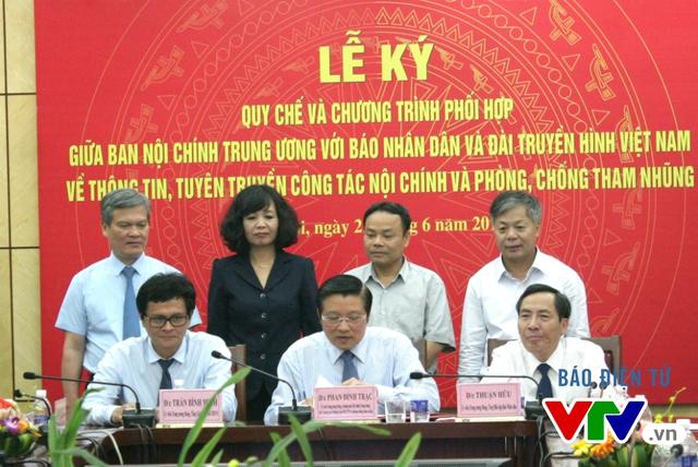 Buổi lễ ký kết diễn ra chiều nay tại Đài Truyền hình Việt Nam.