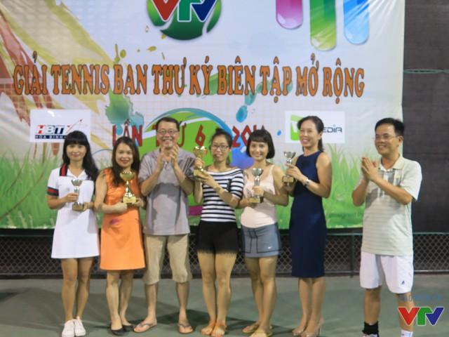 Chung cuộc giải đấu đã tìm ra các tay vợt xuất sắc nhất để trao giải.