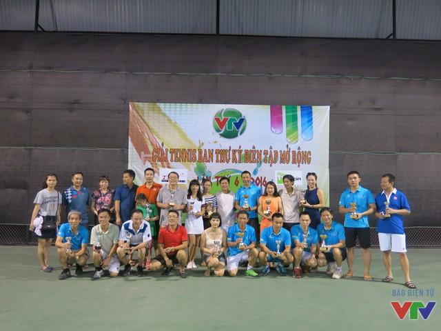 Giải Tennis Ban Thư ký Biên tập mở rộng lần thứ 6 đã kết thúc tốt đẹp.
