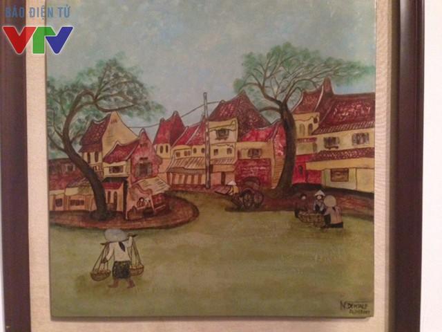 Những bức tranh tại triển lãm là sự giao thoa giữa hai nền văn hóa của hai nước Việt Nam và Maroc