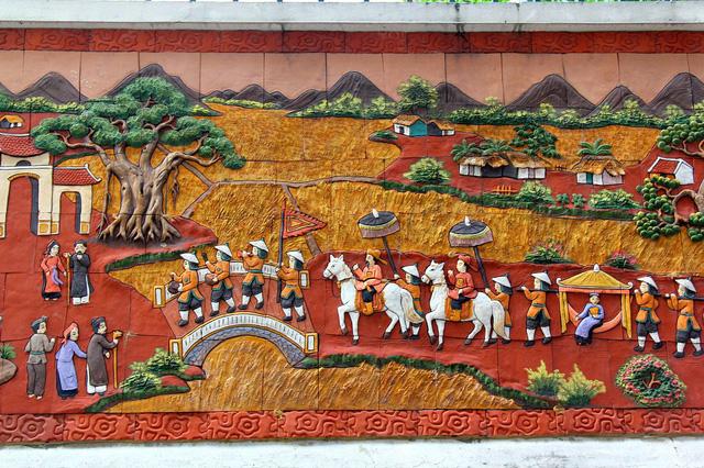 Cảnh sinh hoạt thời xưa của làng quê Việt Nam