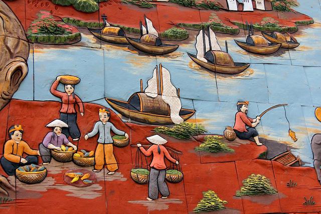 Cuộc sống lao động của người dân làng quê Việt được khắc họa rõ nét, ấn tượng