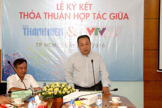 Ông Tạ Sơn Đông - Phó Tổng Giám đốc VTVcab phát biểu tại buổi lễ