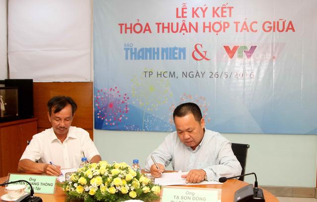Lãnh đạo hai đơn vị thực hiện ký kết thỏa thuận hợp tác