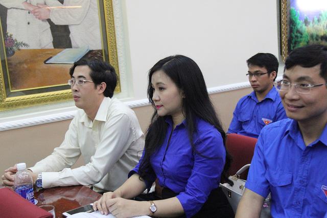 Đồng chí Phạm Thị Hằng - Bí thư Đoàn Đài Truyền hình Việt Nam có mặt trong buổi lễ